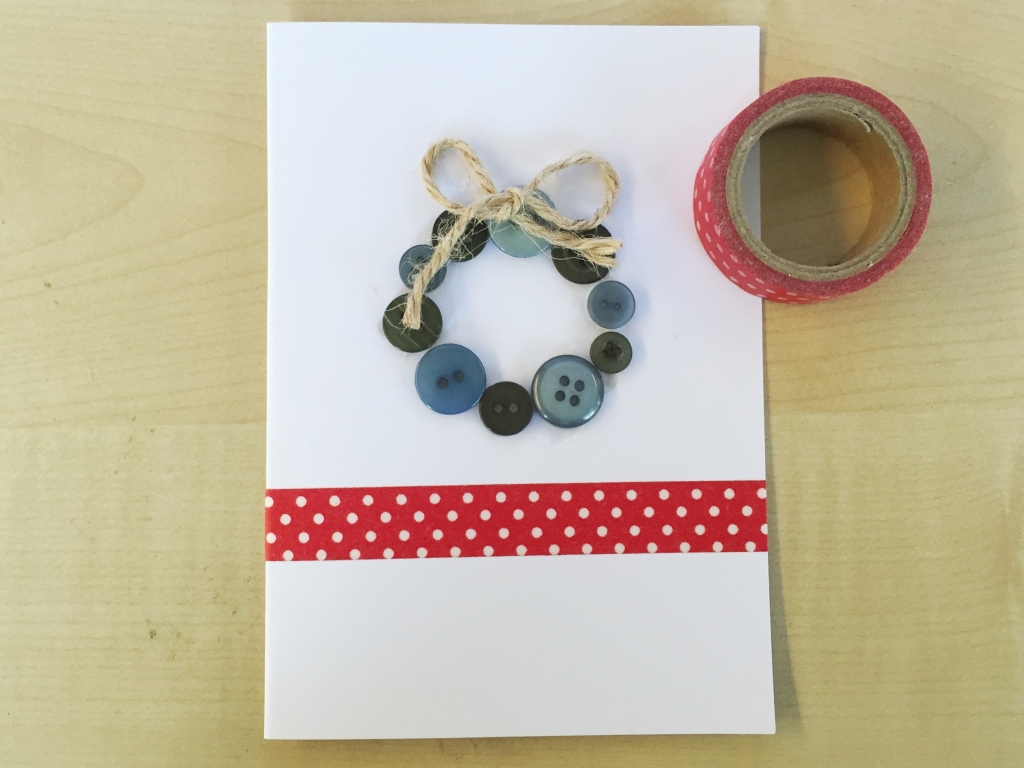 As a finishing touch, add some cute red washi tape for the truly festive feel!