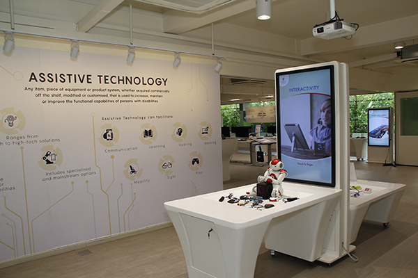 Image of Tech Able interior showcasing Assistive Technologies