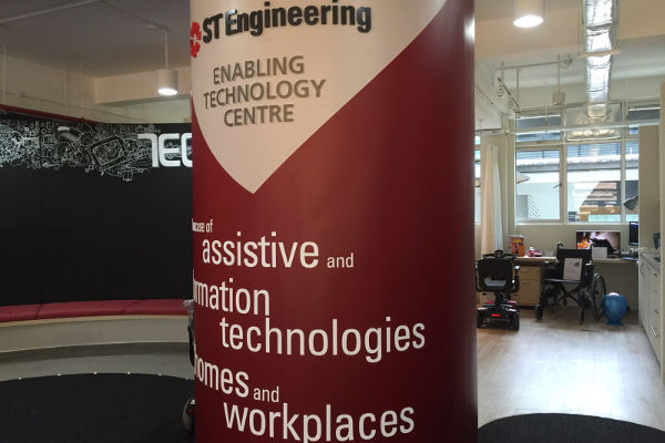 Interior photo of ST Engineering Technology Centre