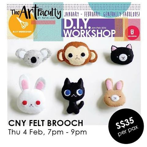 Picture of animal brooches made of felt