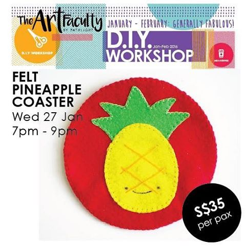 Picture of Handmade Felt Pineapple Coaster