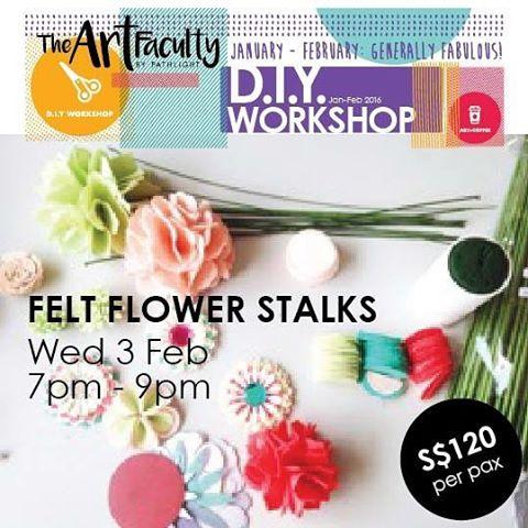 Photo of handmade felt flower stalks