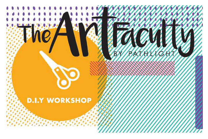 Banner for The Art Faculty's Creative DIY workshops