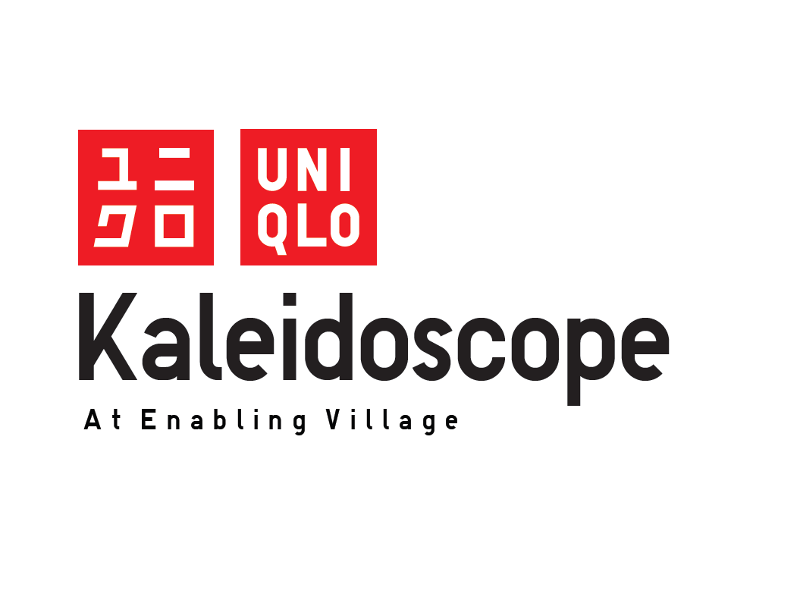 Logo for UNIQLO Kaleidescope event at the Enabling Village
