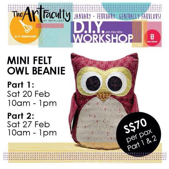 Picture of felt owl beanie