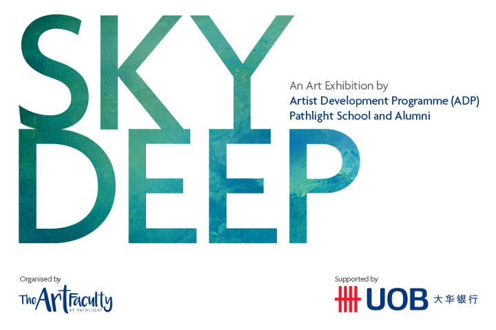 Banner for Sky Deep exhibition by Pathlight School