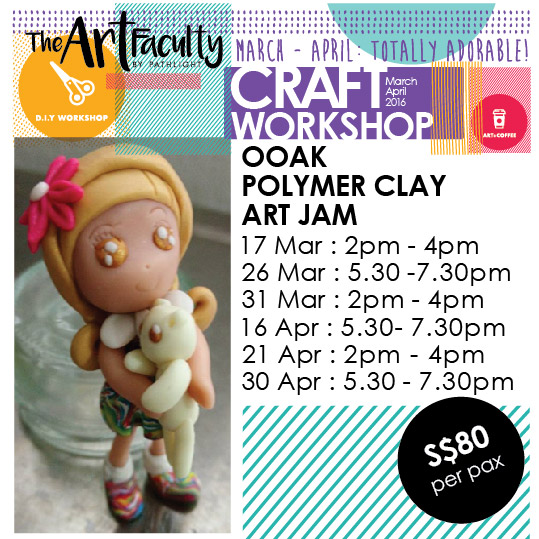 Girl polymer clay figurine