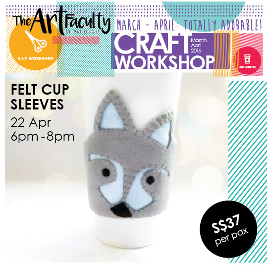 Fox design sleeve wrapped around a cup