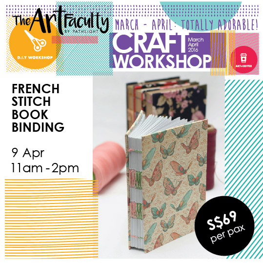 Book made from french stitch bookbinding techniques