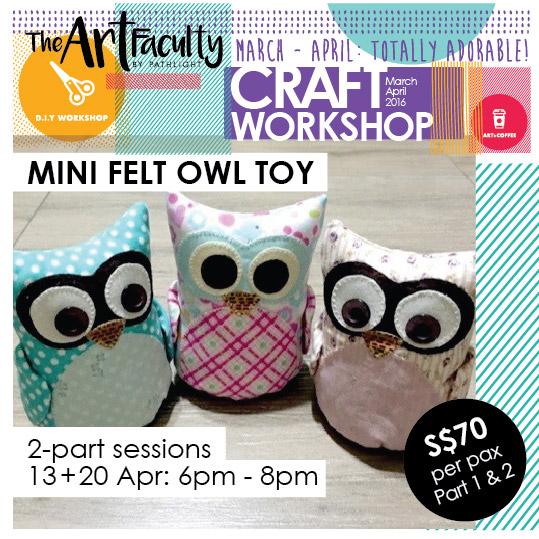 Hand-sewn owl toys