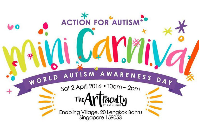 Banner for Action for Autism Mini-carnival at the Enabling Village