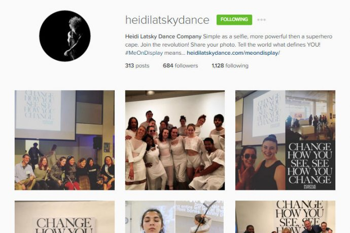 Screencap of the Instagram page of the Heidi Latsky Dance company