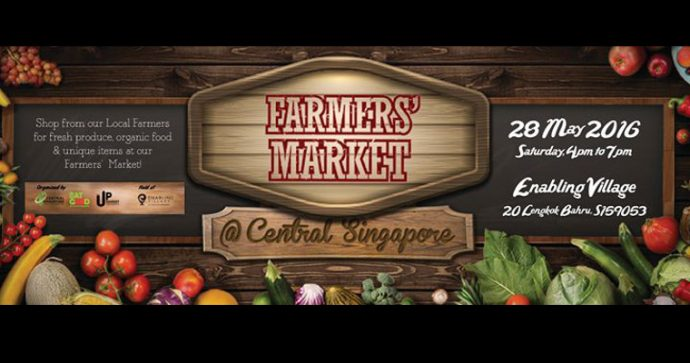 Banner for Farmer's Market at the Enabling Village, 28 May 2016
