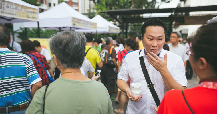 Visitor at the Farmer's Market share tips on their best finds