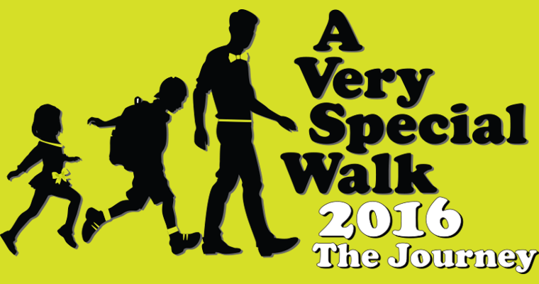 Banner for A Very Special Walk 2016, happening on 31 July 2016
