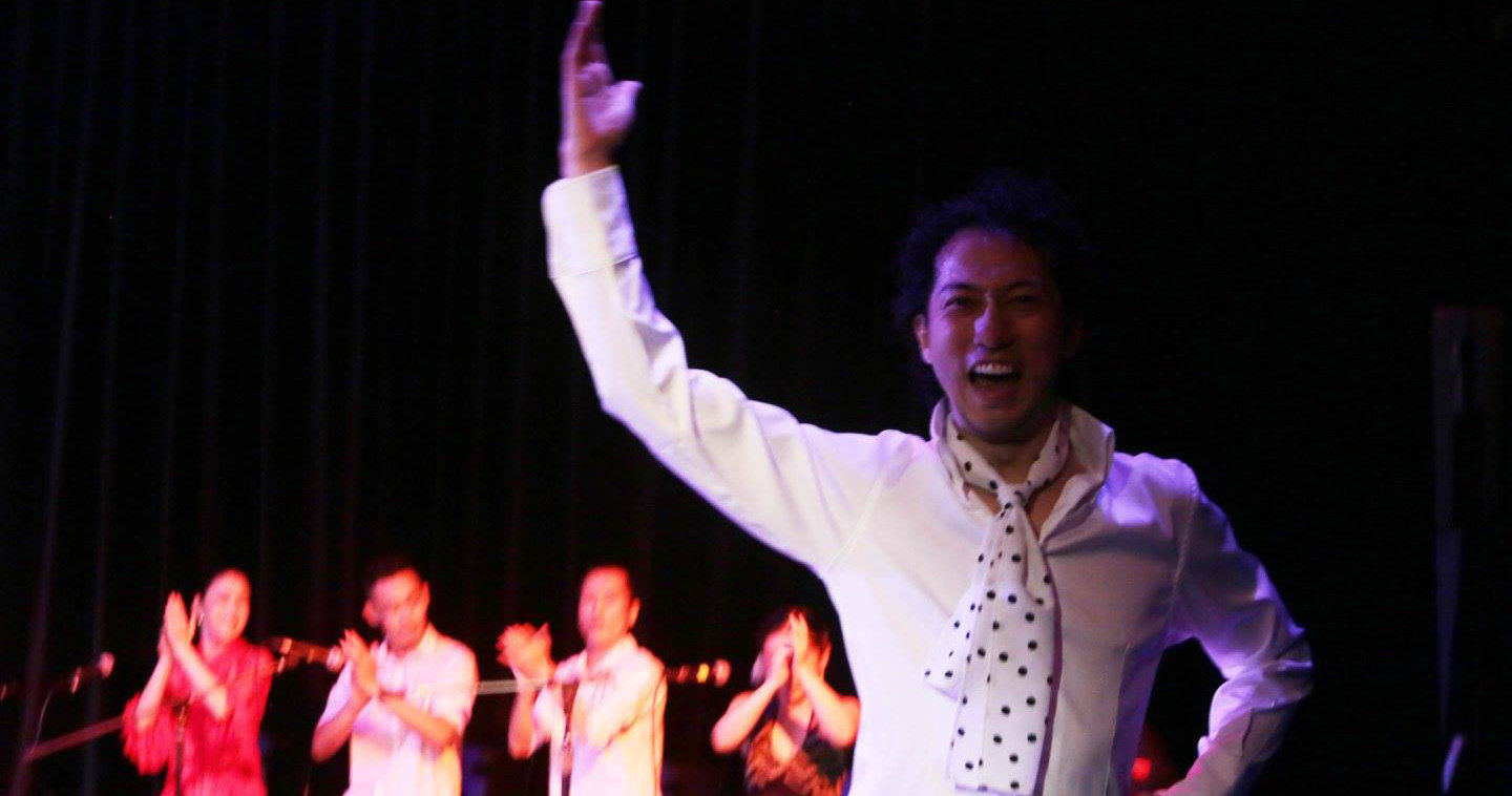 Hiroki Sato performing at the Singapore Flamenco Festival