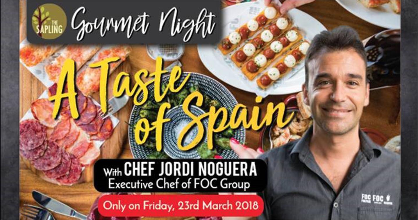 Gourmet Night: A Taste of Spain (23 March 2018)