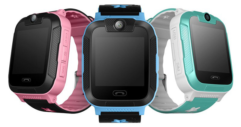Photo of 3 OMG Smart Kids GPS Tracker Watches, in colour pink, blue and white