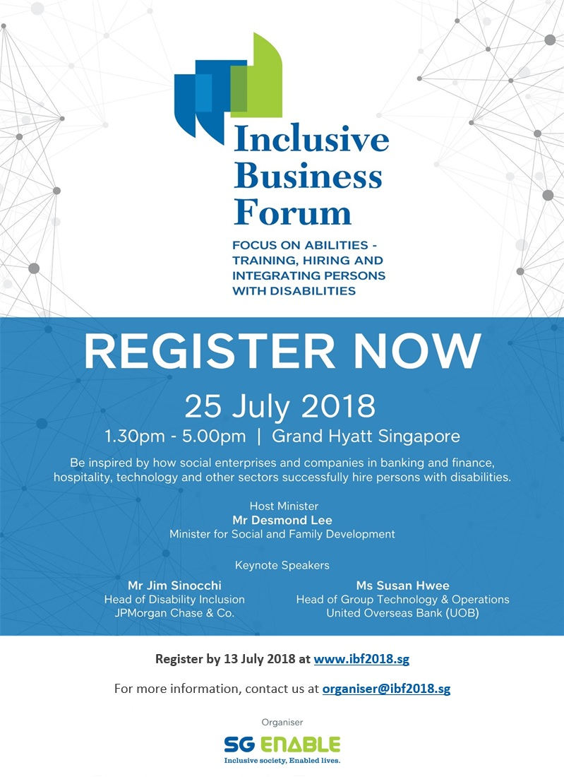 [Register Now] Inclusive Business Forum 2018