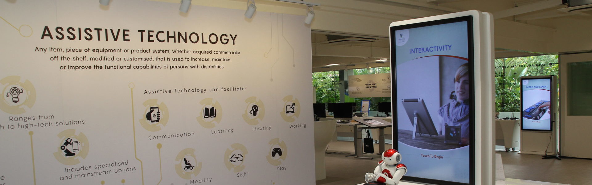 Interior of Tech Able, the assistive technology centre