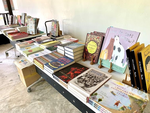 A collection of local reads was showcased for visitors to immerse themselves in